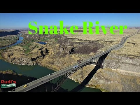 Snake River in Twin Falls Idaho Rudi's NORTH AMERICAN ADVENTURES 10/25/17 Vlog#1232