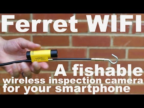 Ferret Wifi Demonstration Video.  A Fishable Inspection Camera For Your Smartphone