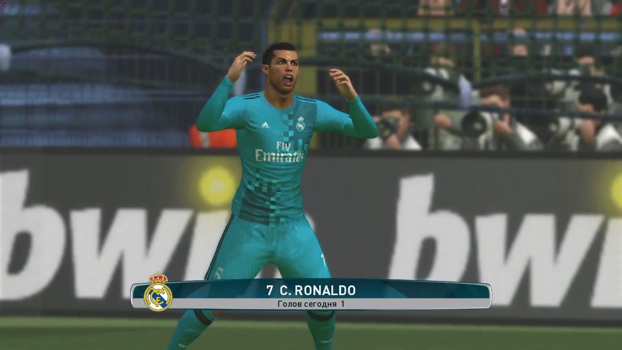 PES 2017 Cristiano Ronaldo Impossible Bicycle Kick Goal vs ...