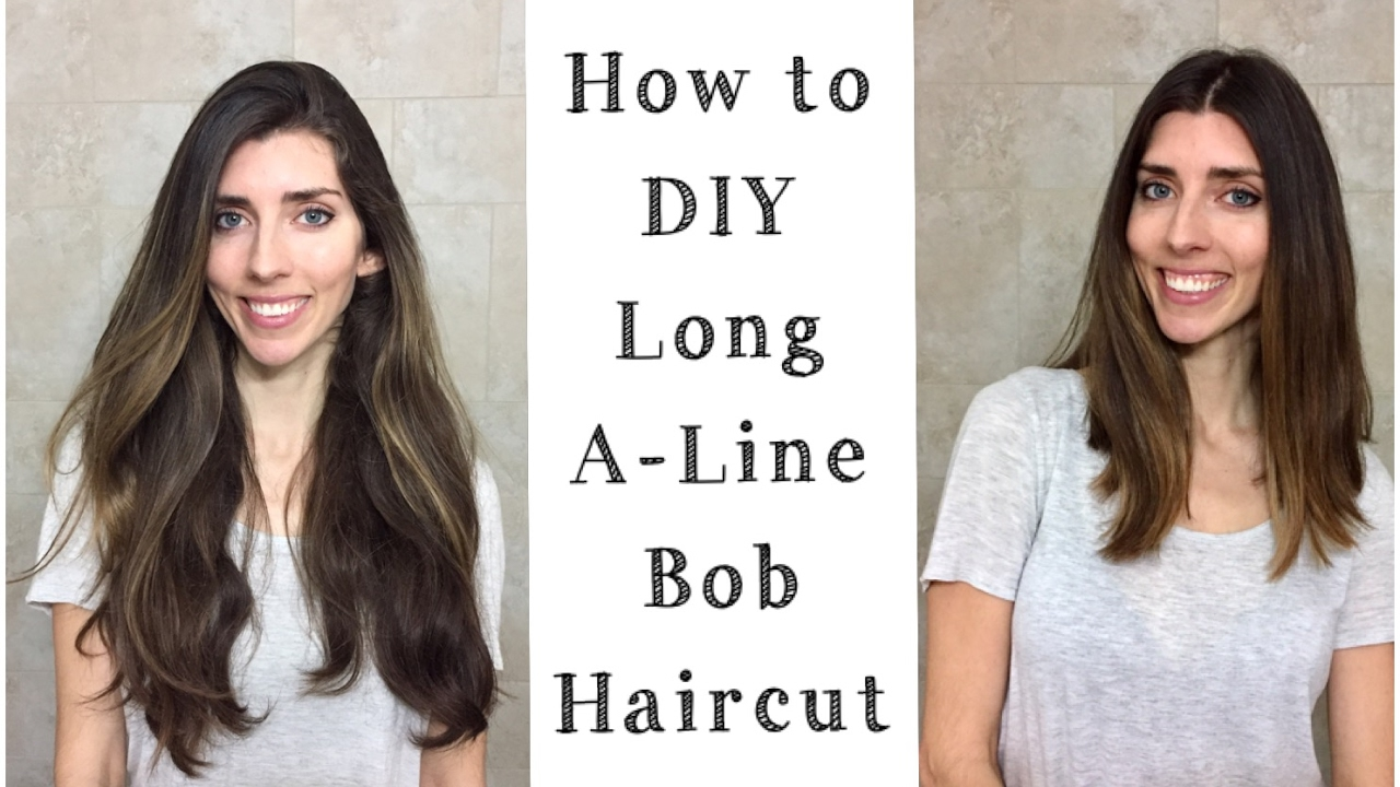 DIY : How to Cut A-Line Long Bob  Cutting Off My Hair at Home!