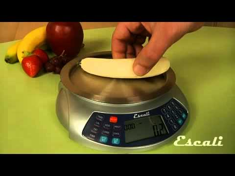 Escali Nutrition Measuring Digital Scales Feature Overview