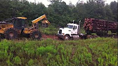 Volvo log truck - YouTube