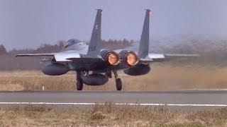 ✈激近レアな03L! 爆音!! 305SQ F-15J Scramble takeoff @Hyakuri Air Base rwy03L(百里基地/茨城空港)