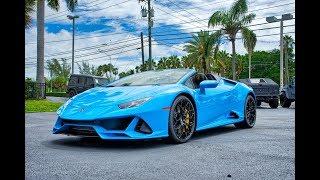 Lamborghini Huracan EVO Spyder Walkaround – Start Up Exterior and Interior at Lamborghini Miami