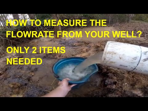 Showing How to Calculate Flowrate while Drilling a Water Well