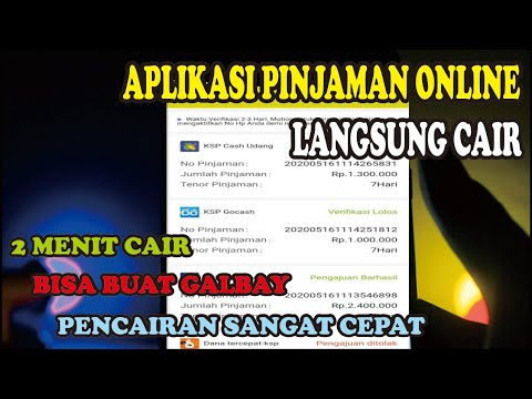 Aplikasi Pinjaman Online Langsung Cair 2 Menit Cair Bisa Buat Galbay Youtube