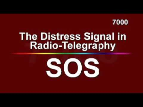 The Distress Signal in Radio-Telegraphy is SOS