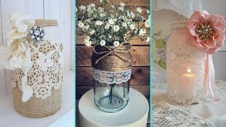 ❤DIY Rustic Shabby Chic style Mason Jar decor ideas❤| Home decor & Interior design | Flamingo Mango