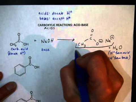 Carboxylic Acid Reactions (AcidBase)