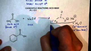 Carboxylic Acid Reactions (AcidBase)