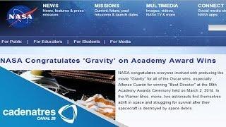 NASA manda felicitaciones a Alfonso Cuarón por su éxito en los Premios Oscar 2014