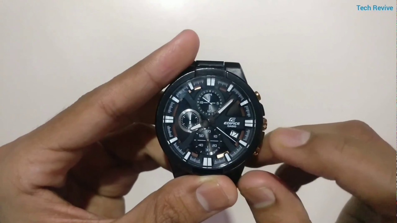 Casio Edifice Efr 544bk 1a9v Detail Review Youtube