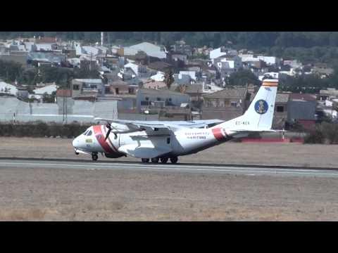 Salvamento Maritimo Airtech CN-235 MPA Persuader EC-KEK Take Off Malaga AGP
