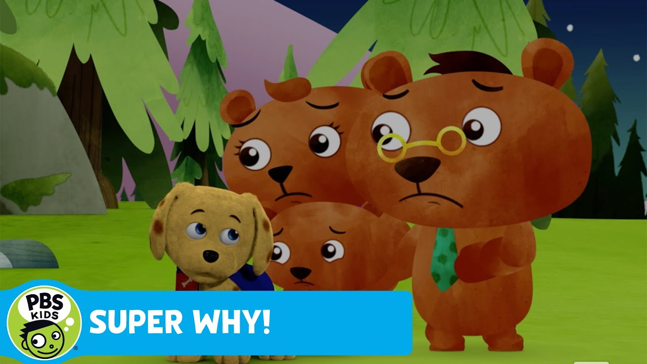 Super Why The Three Bears Hear A Scary Noise Pbs Kids
