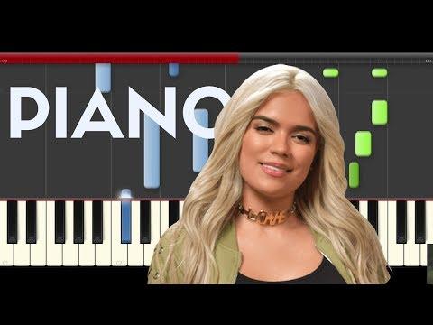 Karol G Mi Cama Piano Midi tutorial Sheet app Cover Karaoke Remix Jam