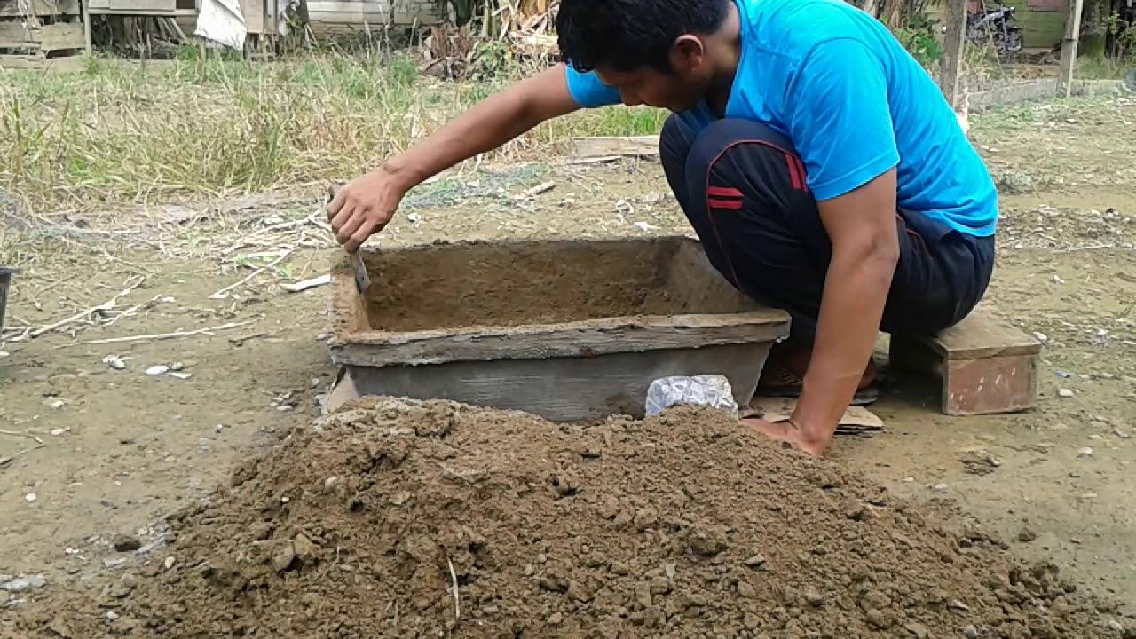 Cara membuat POT bunga dari cetakan tanah - YouTube e396750dd3