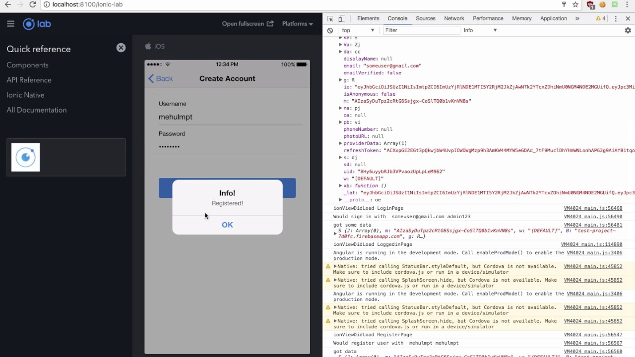 Ionic 3 + Firebase Authentication PART 3: Ionic 3 Tutorial 13