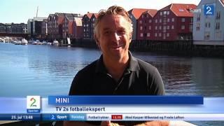 Rune Almenning Jarstein klikker på Trond Olsen, og truer kameramann på Viking-trening