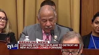 Congressman John Conyers flies home to Detroit as scandal rages around him