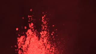Zooming in on a Lava Fountain at Kilauea