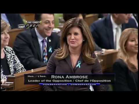 Prime minister JustinTrudeau VS OppositionLeader RonaAmbrose -Paliament debateCANADA-Brainy Beauties