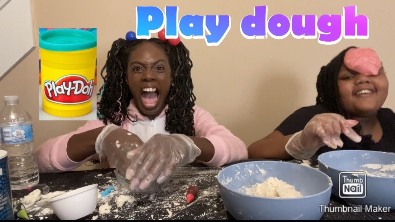 We made play dough part 12