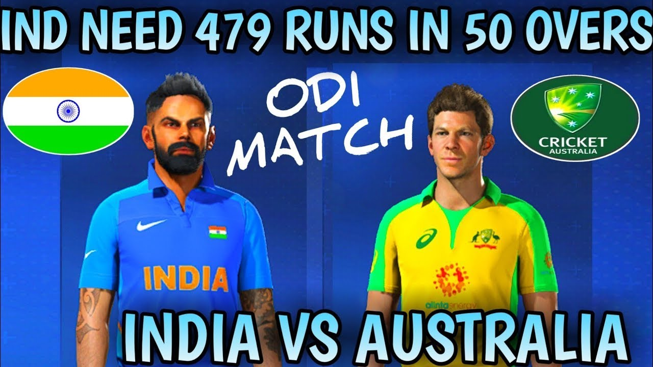 (IND VS AUS) 3RD ODI MATCH IN Cricket 19 | IND NEED 479 RUNS IN 50 OVERS | INDIA VS AUSTRALIA