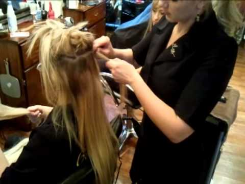 How to clip on hair extensions