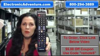 Original Samsung AA59-00587A HDTV  Remote Control - Family Story (AA5900587A) $5 Off Coupon