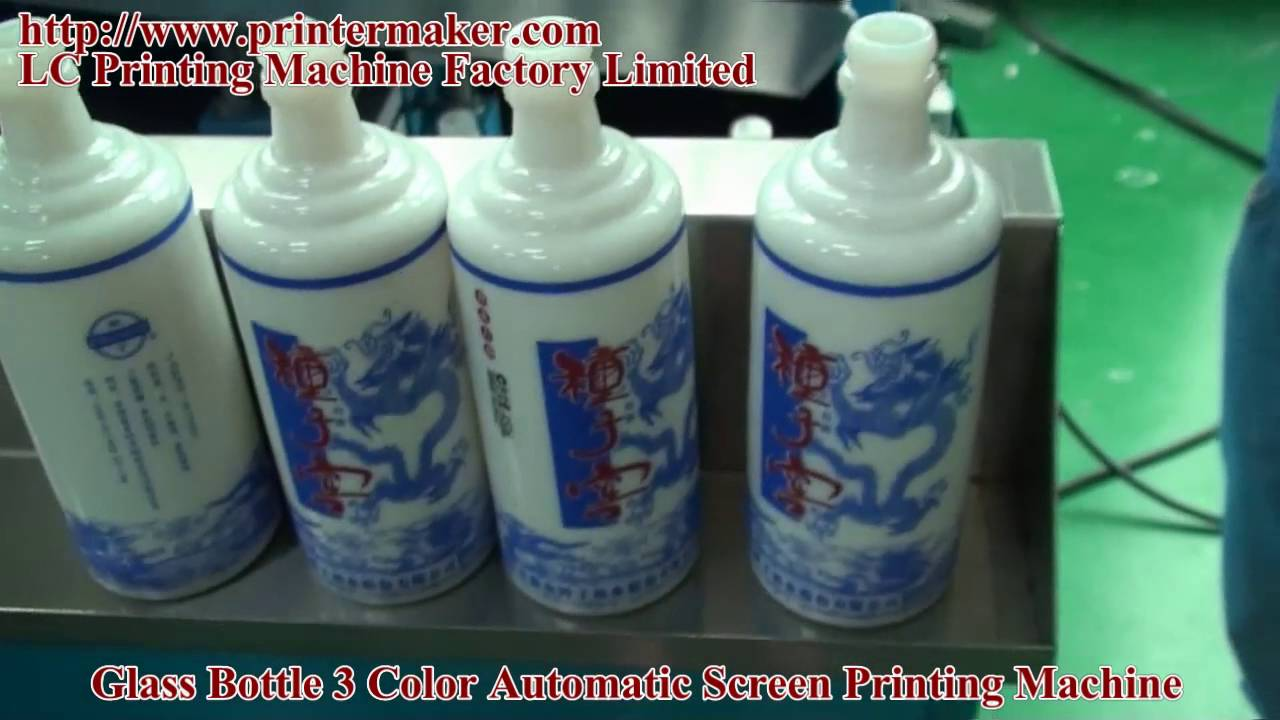 Glass Bottles 3 Color Automatic Screen Printing Machine