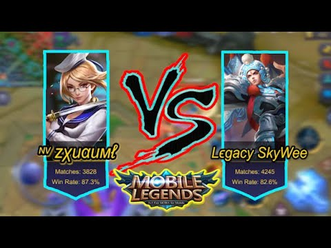 BEST MATCH!!!! GOD OF FANNY (ZXUAN) VS GOD OF ZILONG (SKYWEE) / MOBILE LEGENDS / MLBB