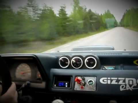 Toyota Starlet Turbo- Flat Out On Tarmac Road