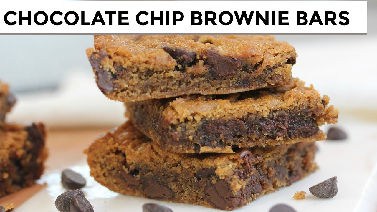 maxresdefault - Chocolate Chip Brownie Bars | Vegan + Paleo + Grain-Free
