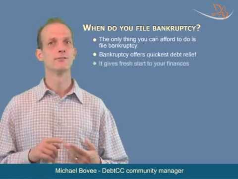 Bankruptcy -- Use It As The Last Weapon To Fight With Debt Germs