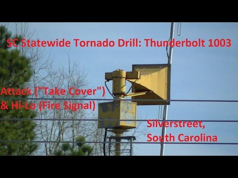 SC Statewide Tornado Drill: Thunderbolt 1003, Attack & Hi-Lo - Silverstreet, SC 3/9/16