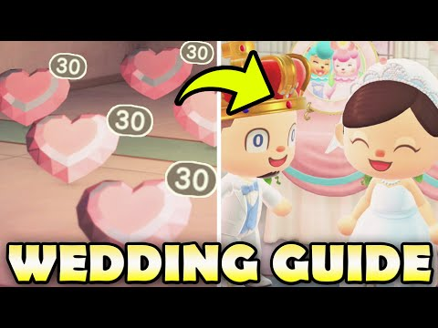 �� MAXIMIZE HEART CRYSTALS for ALL Wedding Items | Animal Crossing New Horizons Wedding Guide