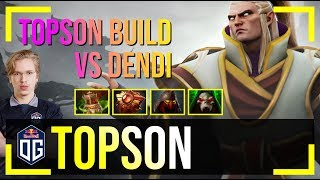 Topson - Invoker MID | TOPSON BUILD vs Dendi (Puck) | Dota 2 Pro MMR Gameplay #9