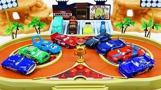 Cars 3 Toys Crazy 8 Demolition Derby Tournament vol.34  Next Generation Racer VS Legend Racer