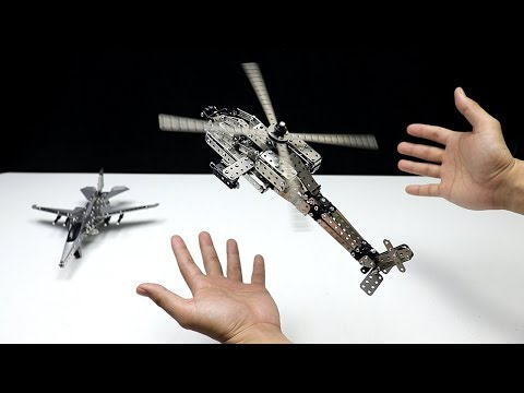 Amazing DIY Metal Jet and helicopter toys