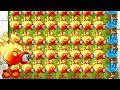 Plants vs Zombies 2 Fire Peashooter Massacre All Zombies and Competitive Plants Every Level PVZ 2
