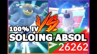 POKEMON GO ABSOL SOLO ATTEMPT  POWERING UP MY 100 IV MACHAMP