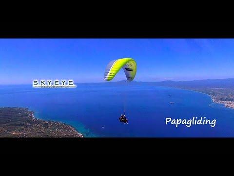Paragliding with a quadcopter at kalamata