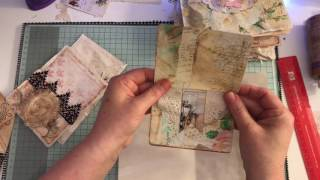 Embellishments, pockets and tuck spots for journals