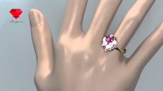 Bije.ru: Позолоченное кольцо с розово-фиолетовыми кристаллами Swarovski Patricia (Патричия)(, 2015-02-16T13:57:58.000Z)