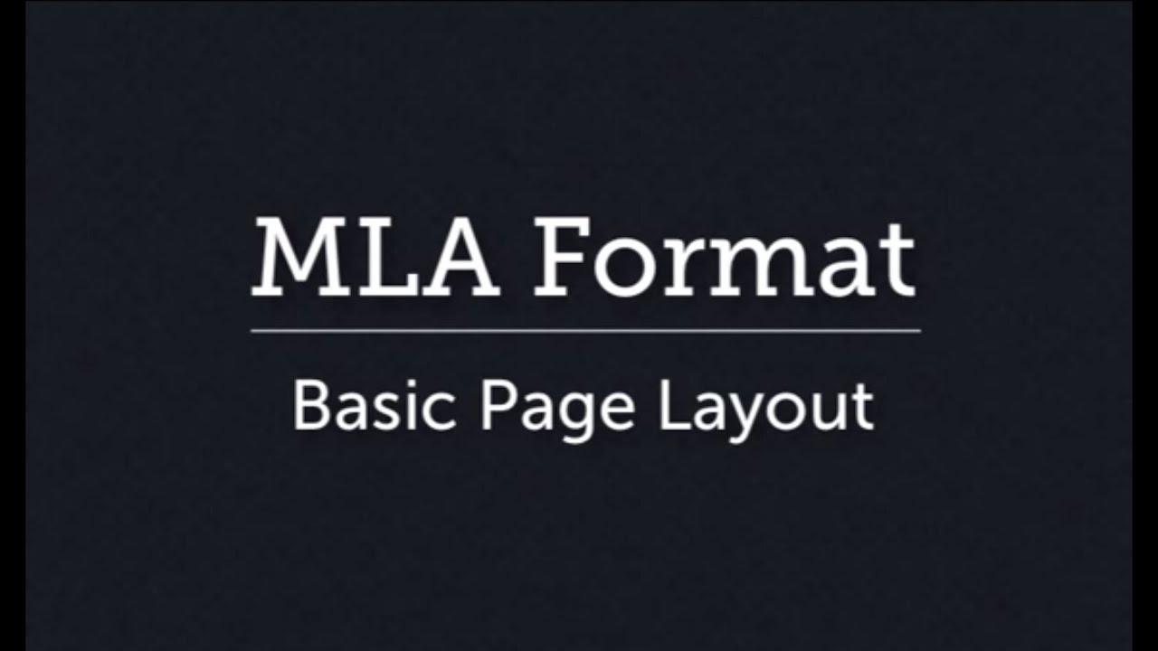 setting up mla style page layout youtube