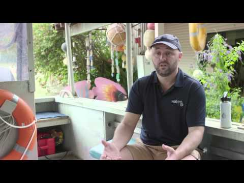 Damien Stone chats about the partnership with Eco Barge Clean Seas