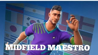 Fortnite Battle Royale First Win With Midfield Maestro Fifa World Cup Skin!!!