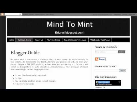 How to add animated header in blogger blog?
