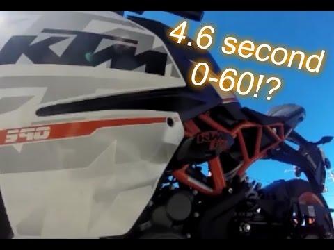 KTM RC390 0-60 mph Run.