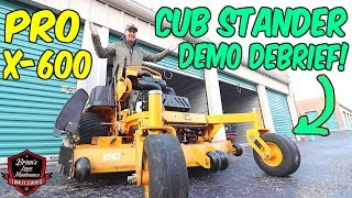 THE VERDICT IS IN! ► Final Cub Cadet Pro X 600 Review!